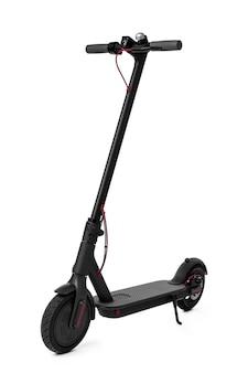 Nouveau scooter électrique noir isolé sur blanc