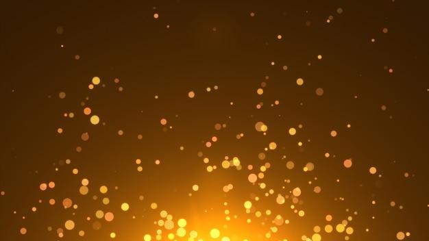 Nouvel an 2020. fond de bokeh. résumé des lumières. joyeux noël en toile de fond. paillettes d'or lumière. particules défocalisées. couleur dorée