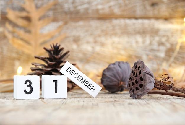 Nouvel an 31 décembre concept pour le fond