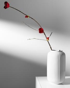 Nouvel an chinois 2021 concept de fleur minimale