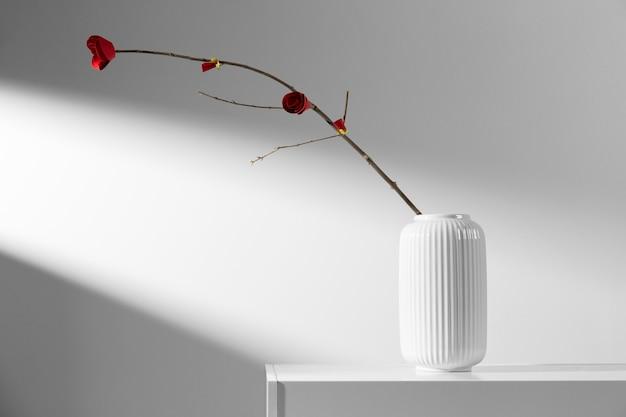 Nouvel an chinois 2021 design de fleur minimaliste