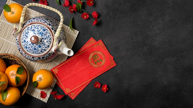 Nouvel an chinois aux mandarines