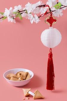 Nouvel an chinois avec des biscuits de fortune