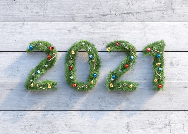 Nouvel an et fond de noël fait d'arbres de noël