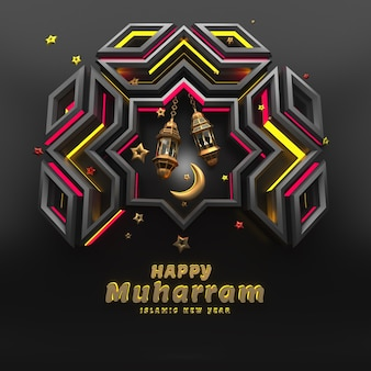 Nouvel an islamique en rendu 3d réaliste