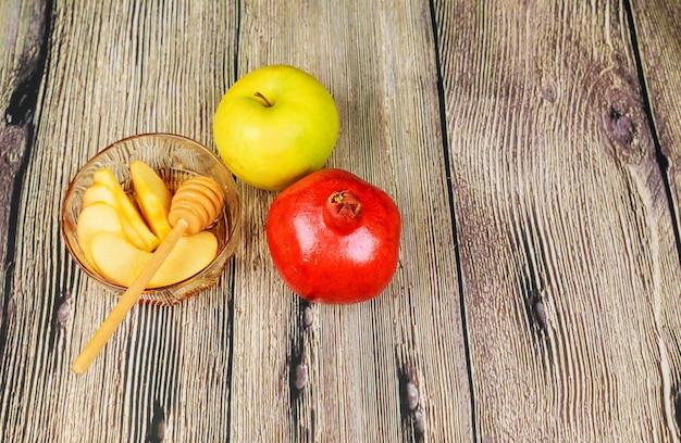 Nouvel an juif - roch hachana - miel de pomme et de miel, israël, juif