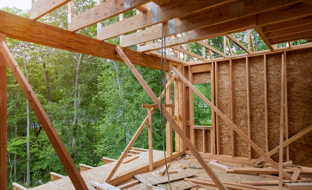 Nouvelle construction de maison de construction de poutre