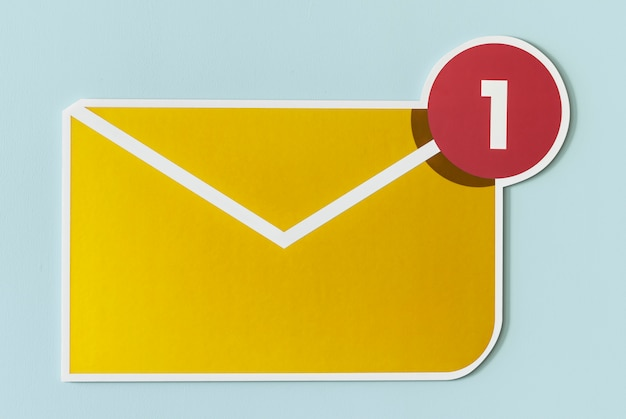 Nouvelle icône d'e-mail de message entrant