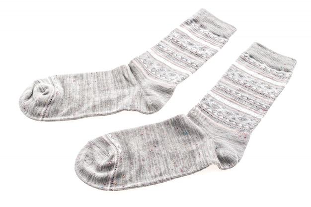 Nouvelles chaussettes isolé sur blanc