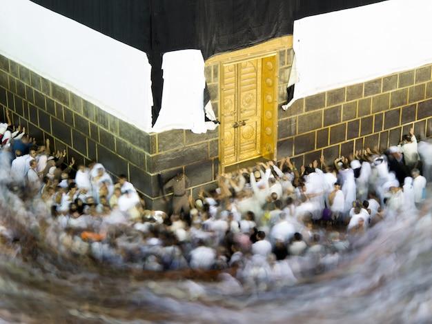 Nouvelles images de la kaaba à la mecque après restauration