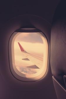 Nuage aérien, vol, avion, avion, aile