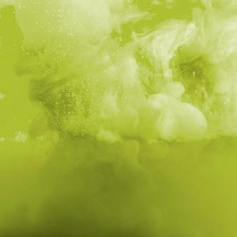 Nuage d'encre vert et jaune