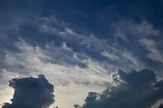 Le nuage de la saison des pluies