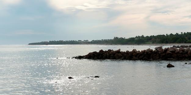 Nuages au-dessus de la mer, sayulita, nayarit, mexique