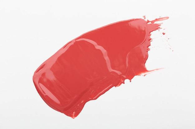Nuance de rouge à lèvres rose vue ci-dessus