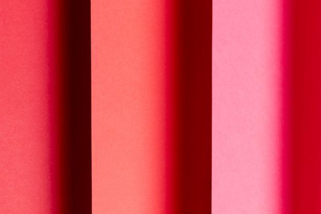 Nuances de close-up de papiers rouges