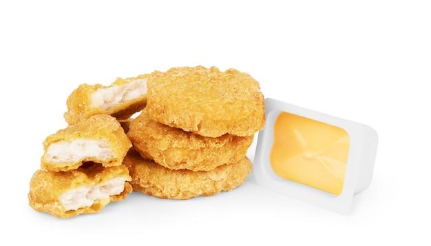 Nuggets de poulet frit et sauce chili douce