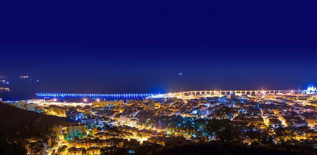 Nuit aérienne à santa cruz de tenerife, iles canaries