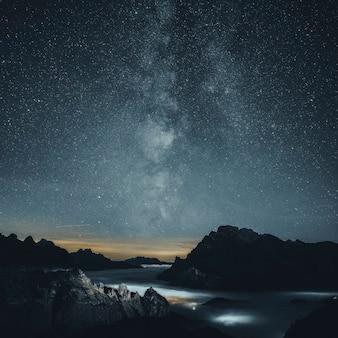 Nuit étoilée sur la montagne