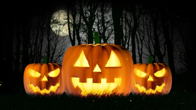 Nuit d'halloween pleine lune