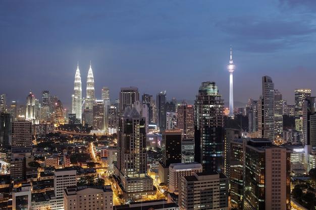 Nuit à kuala lumpur, malaisie
