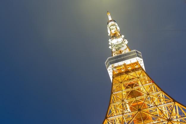 Nuit de la tour de tokyo.