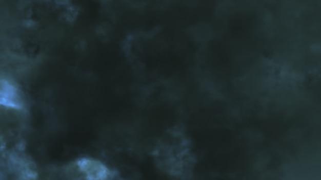 La nuit, voler à travers la foudre et l'orage illustration 3d