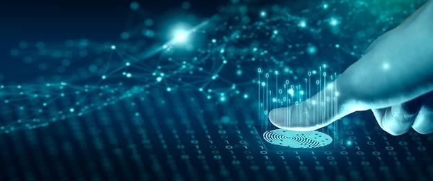 La numérisation d'empreintes digitales permet d'accéder à l'identification biométrique technologie sécurité