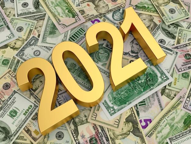 Numéro 2021 sur les billets d'un dollar