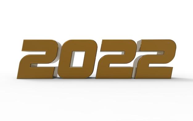 Numéro 3d 2022 doré