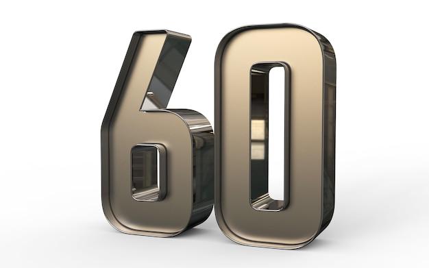 Numéro 3d 60 pour cent d'or
