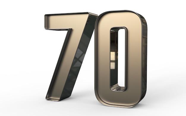Numéro 3d 70 pour cent d'or