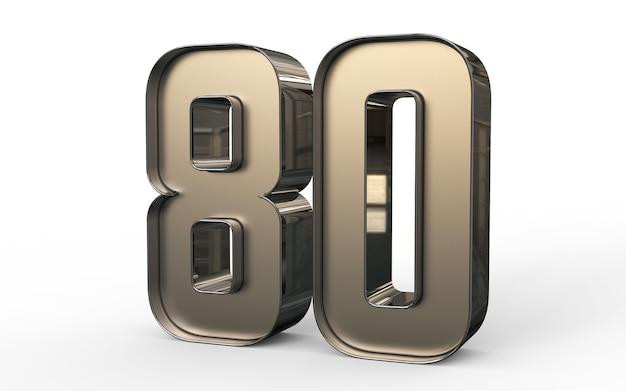 Numéro 3d 80 pour cent d'or