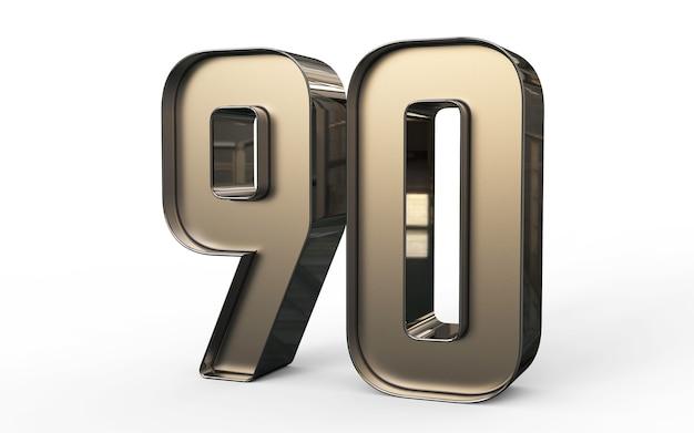 Numéro 3d 90 pour cent d'or