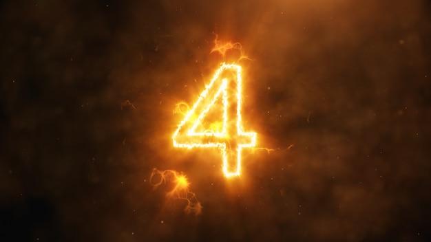 Numéro 4 en flammes