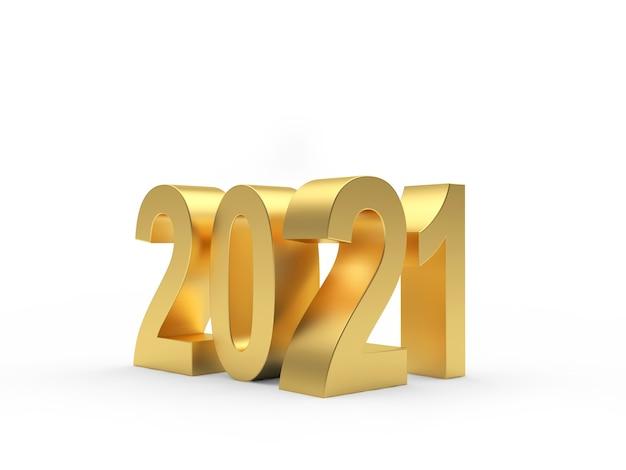 Numéro de l'année or sur fond clair