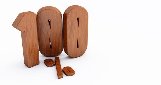 Numéro en bois isolé sur blanc