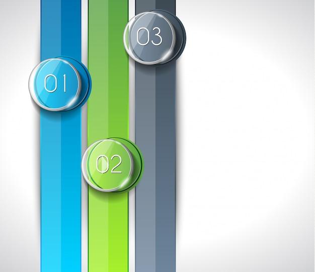 Numéros abstraits modernes d'infographie pour afficher des données