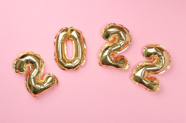 Numéros de ballons aluminium nouvel an isolés