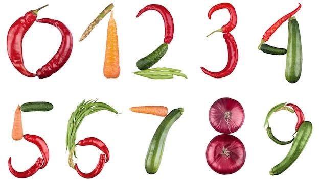 Numéros faits de légumes