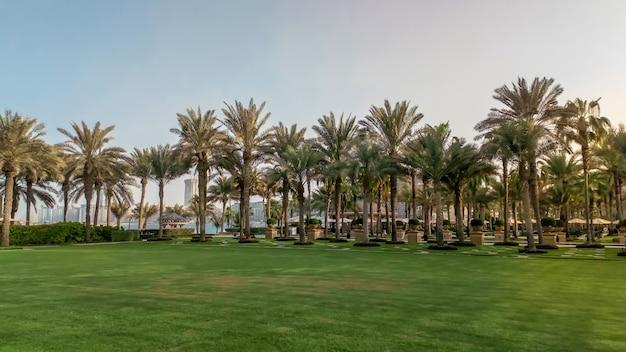 Oasis avec piscine dans l'hôtel one & only royal mirage. dubai