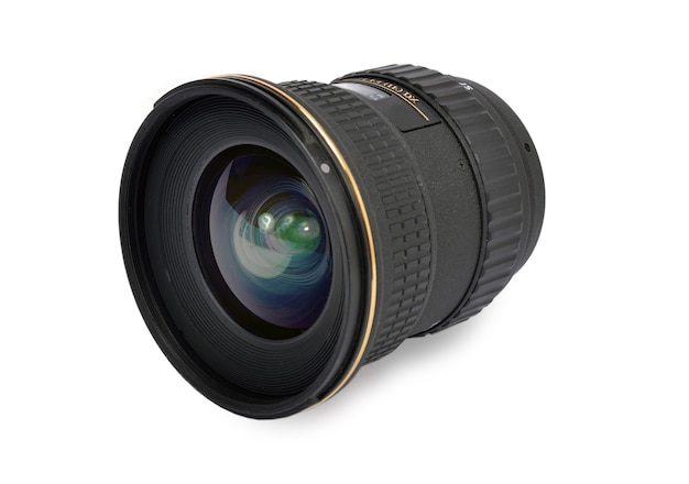 Objectif de la caméra isolé