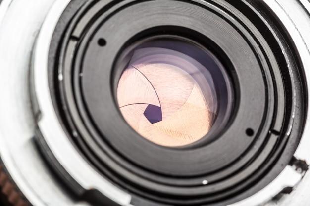 Objectif de la caméra se bouchent