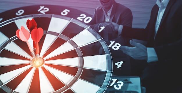 Objectif commercial cible pour le concept de stratégie de réussite