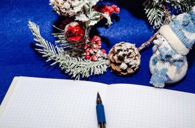 Objectifs du nouvel an et concept de résolution - cette année, je le ferai sur le bloc-notes.