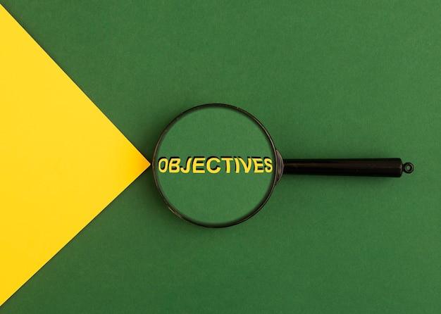 Objectifs de mot à travers le concept de cible de loupe