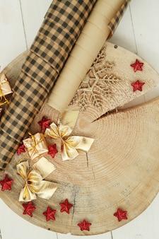 Objets de décoration de noël
