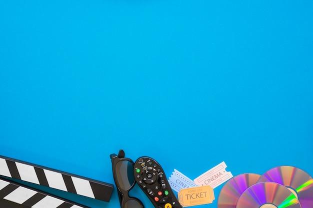 Objets de films avec de l'espace sur le dessus