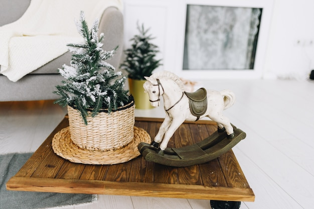 Objets d'intérieur de maison confortable pour noël