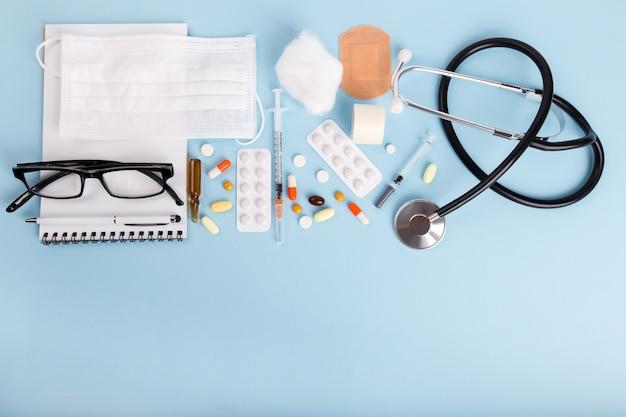 Objets médicaux à plat poser